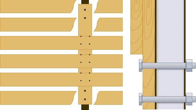 アルミ角パイプを使ったフェンスのイラスト