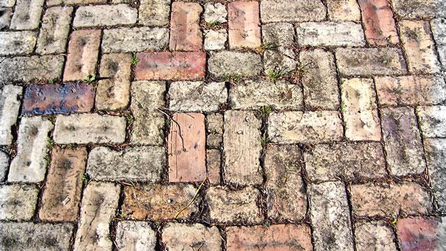 アンティークレンガの舗装
