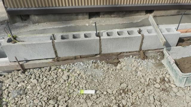境界コンクリートブロック