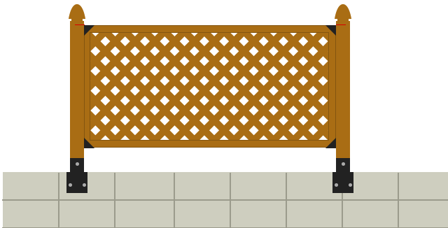 install lattice fence